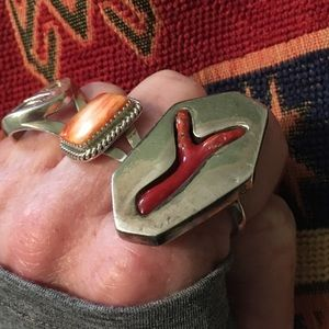 Other - Vintage Navajo Coral Branch Ring